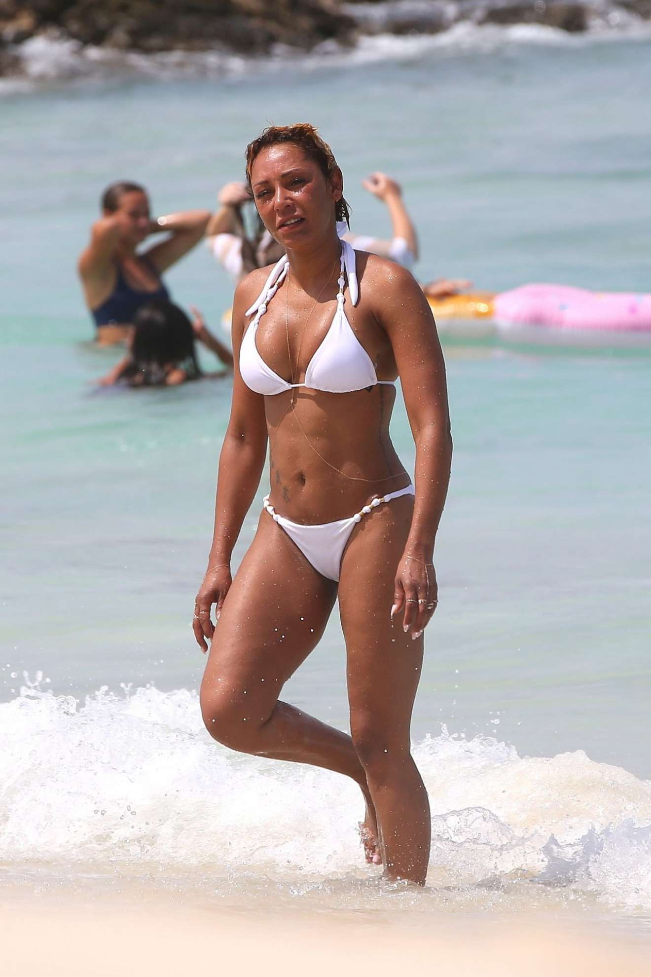 Melanie Brown 2017 : Melanie Brown: White Bikini Candids in Hawaii-05