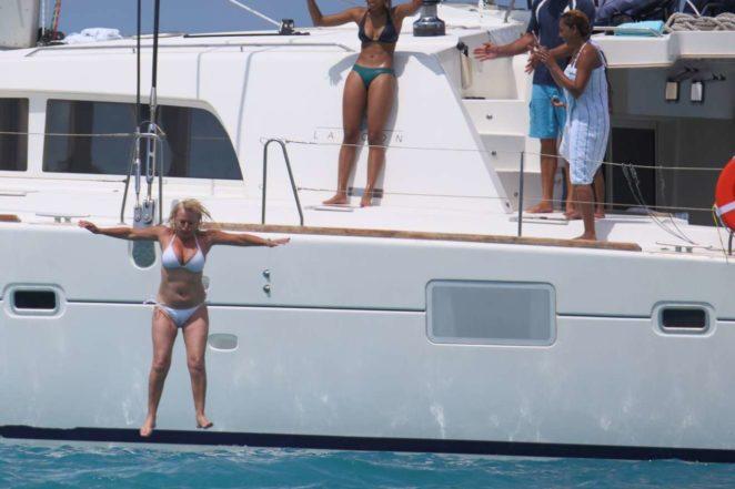 Melanie Brown: White Bikini Candids in Hawaii-11