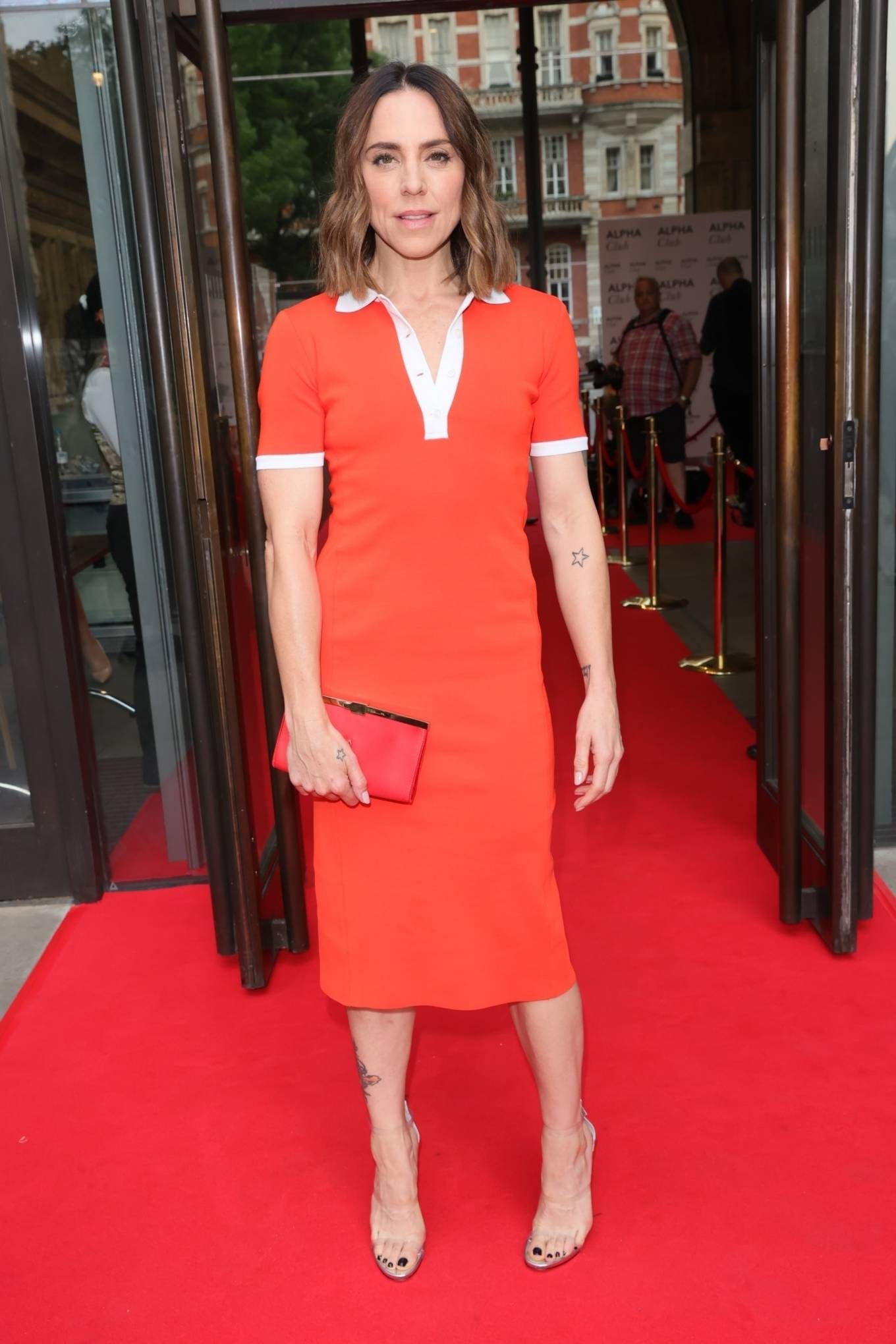 Melanie Chisholm - In a tight orange dress at Best of West End in London