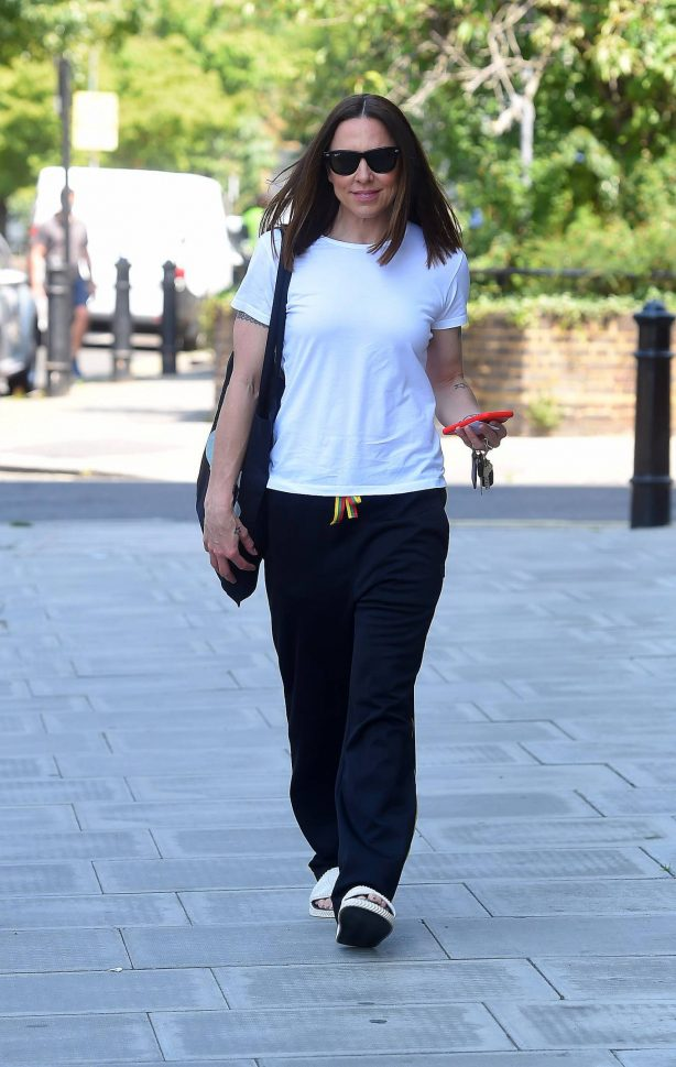 Melanie Chisholm - out and about in London