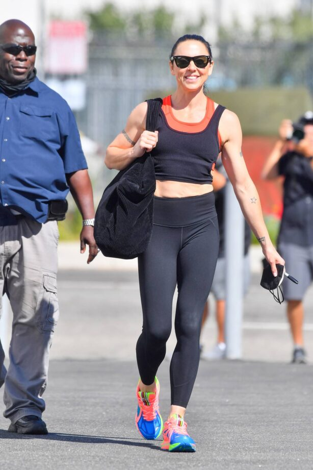 Melanie Chisholm - Seen leaving Dancing with the Stars rehearsals in Los Angeles