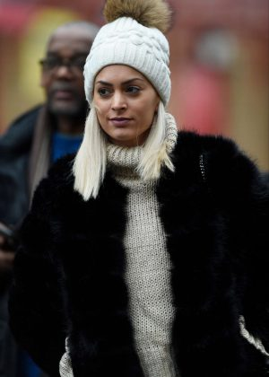 Melanie Da Cruz - Arrives at Old Trafford in Manchester