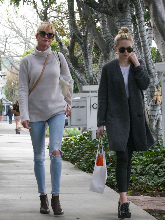 Melanie Griffith and daughter Stella Shopping in Los Angeles