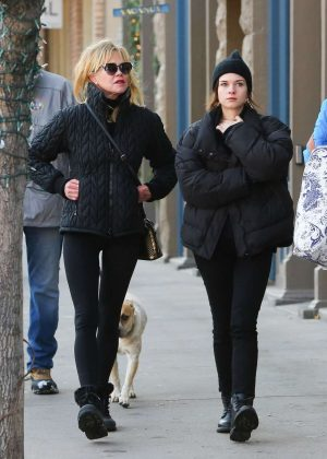 Melanie Griffith and her daughter Stella Banderas - Out in Aspen