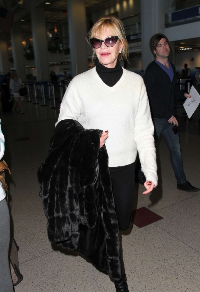 Melanie Griffith at LAX airport in LA