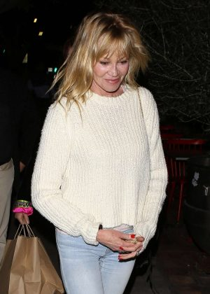 Melanie Griffith at Republique French restaurant in Los Angeles