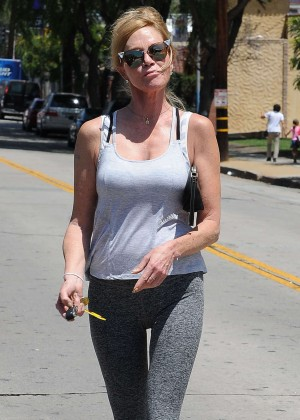 Melanie Griffith in Spandex Out in Beverly Hills