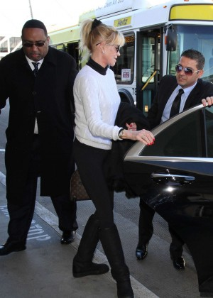Melanie Griffith - Leaves LAX Airport in LA