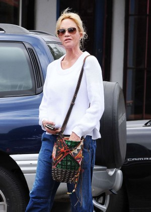 Melanie Griffith in Jeans Out and about in LA