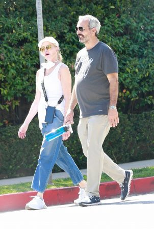 Melanie Griffith - Out for a stroll in Beverly Hills