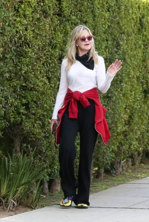 Melanie Griffith - Out for a walk with a friend in Beverly Hills