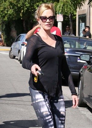 Melanie Griffith in Leggings Out in Beverly Hills