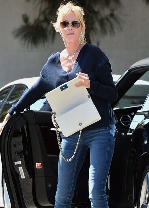 Melanie Griffith in Jeans Out in Los Angeles