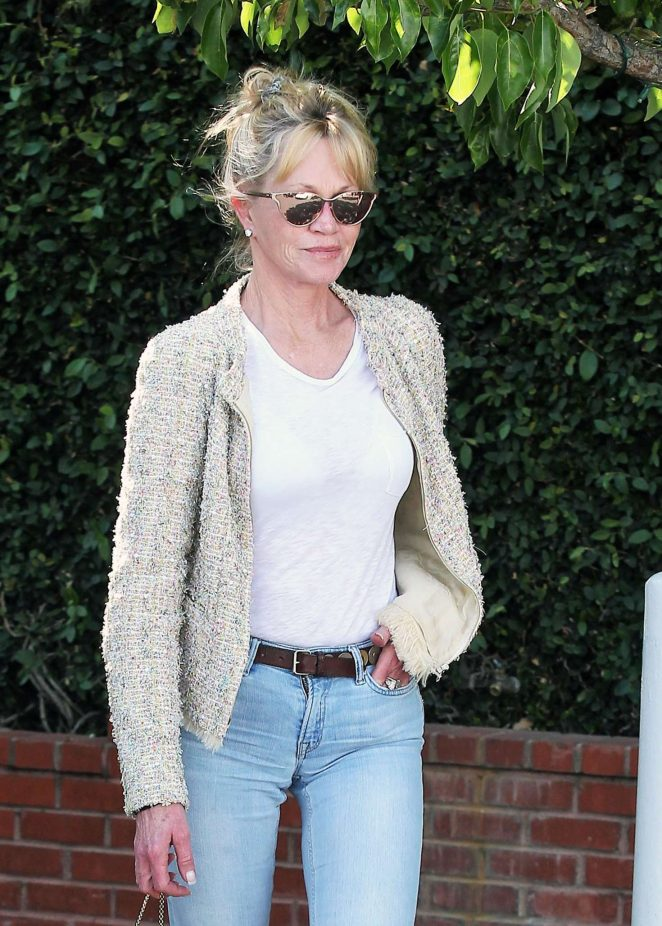 Melanie Griffith shopping at Fred Segal in Los Angeles