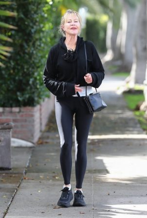 Melanie Griffith - Spotted at a hair salon in Los Angeles