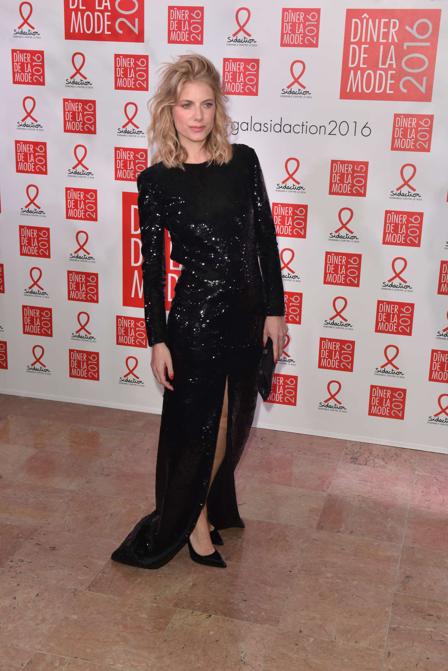 Melanie Laurent 2016 : Melanie Laurent: Sidaction Gala Dinner 2016 -01
