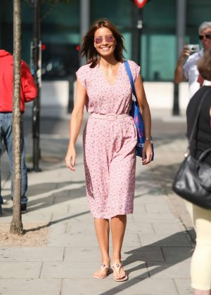 Melanie Sykes - Arrives at BBC Studios in London