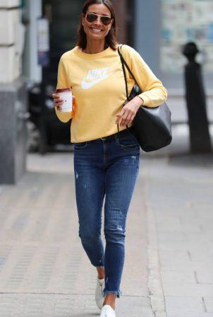 Melanie Sykes - Arriving at BBC Studios in London