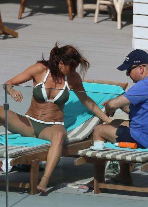 Melanie Sykes In Bikini At A Pool In Ibiza Gotceleb