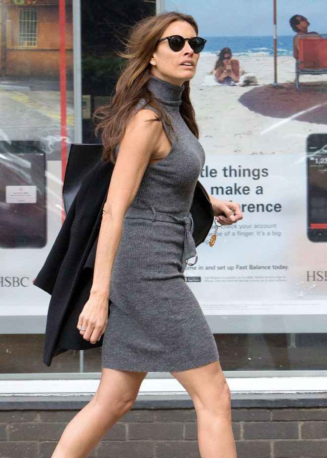 Melanie Sykes in Tight Dress in North London