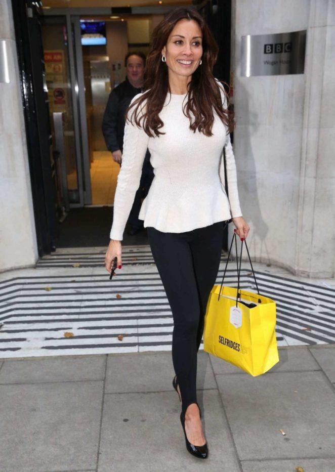 Melanie Sykes - Leaves Xmas Show Radio 2 in London