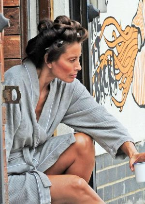 Melanie Sykes on a Photoshoot in London