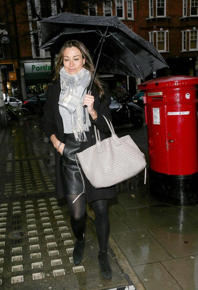 Melanie Sykes - Out and about in London