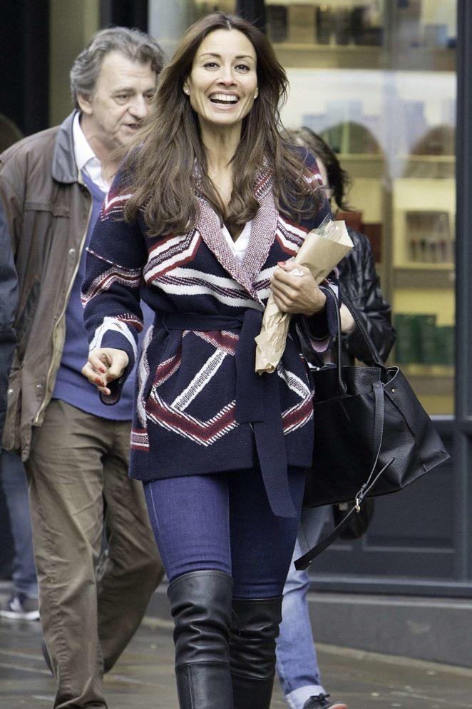 Melanie Sykes - Shopping at Hampstead High Street in London