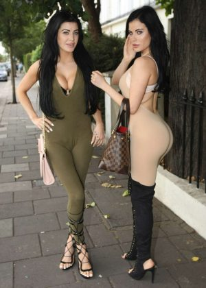 Melissa and Carla Howe in Tights out in London