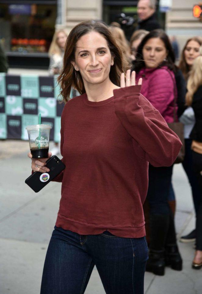 Melissa Ben-Ishay - Arrives at AOLBuild studios in New York City