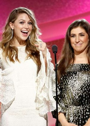 Melissa Benoist and Mayim Bialik - 1st Annual Marie Claire Young Women's Honors in Marina Del Rey