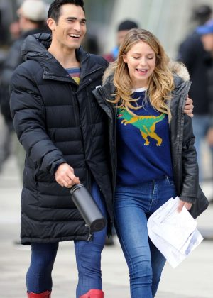 Melissa Benoist and Tyler Hoechlin - Filming 'Supergirl' and 'Superman' in Vancouver