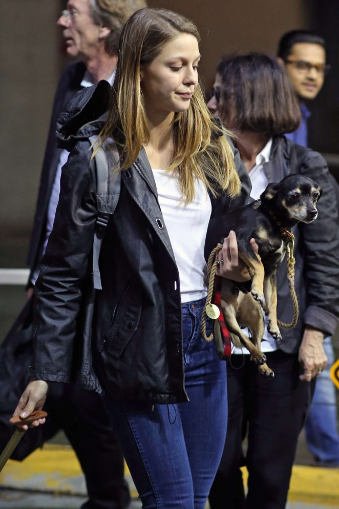 Melissa Benoist Arriving back to Vancouver
