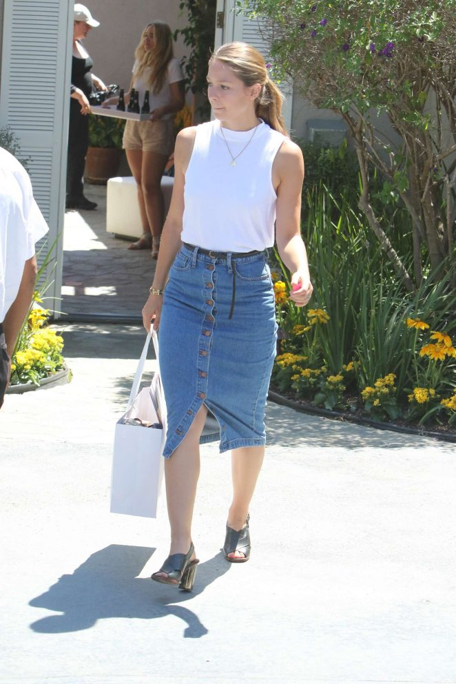 Melissa Benoist - Arriving to The in Style Gifting Suite in Brentwood