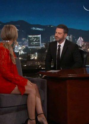 Melissa Benoist at Jimmy Kimmel Live! in Los Angeles