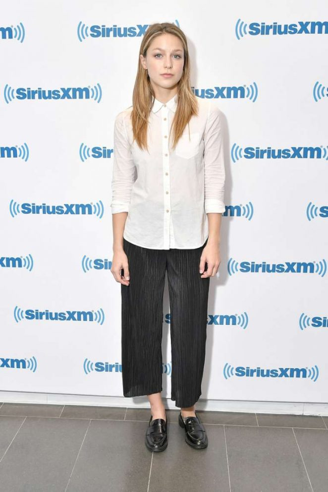 Melissa Benoist at Sirius XM Studios in NYC