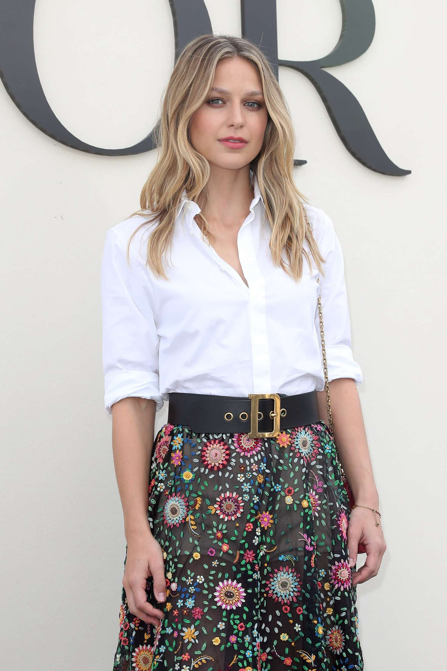 Melissa Benoist – Christian Dior Fashion Show in Paris