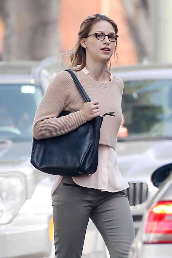 Melissa Benoist - Filming 'Super Girl' in LA
