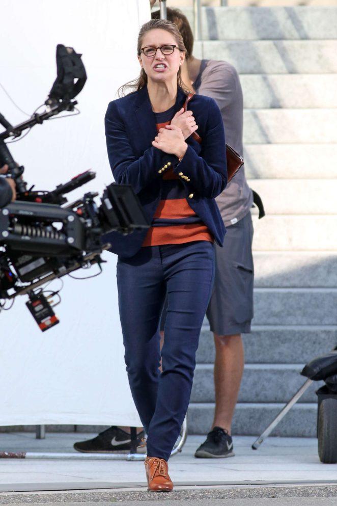 Melissa Benoist: Filming Supergirl -08