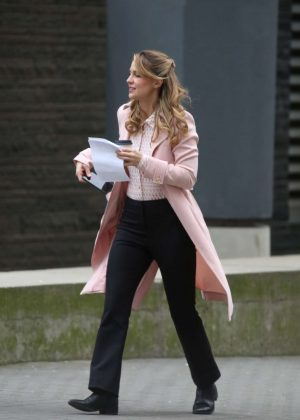 Melissa Benoist - On The Set of 'Supergirl' in Vancouver