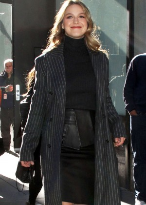 Melissa Benoist out in New York