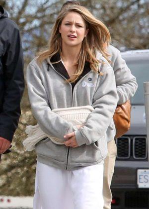 Melissa Benoist out in Vancouver