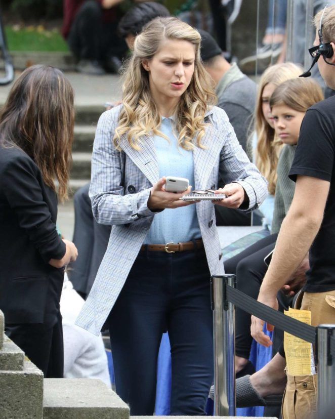 Melissa Benoist - Supergirl set in Vancouver