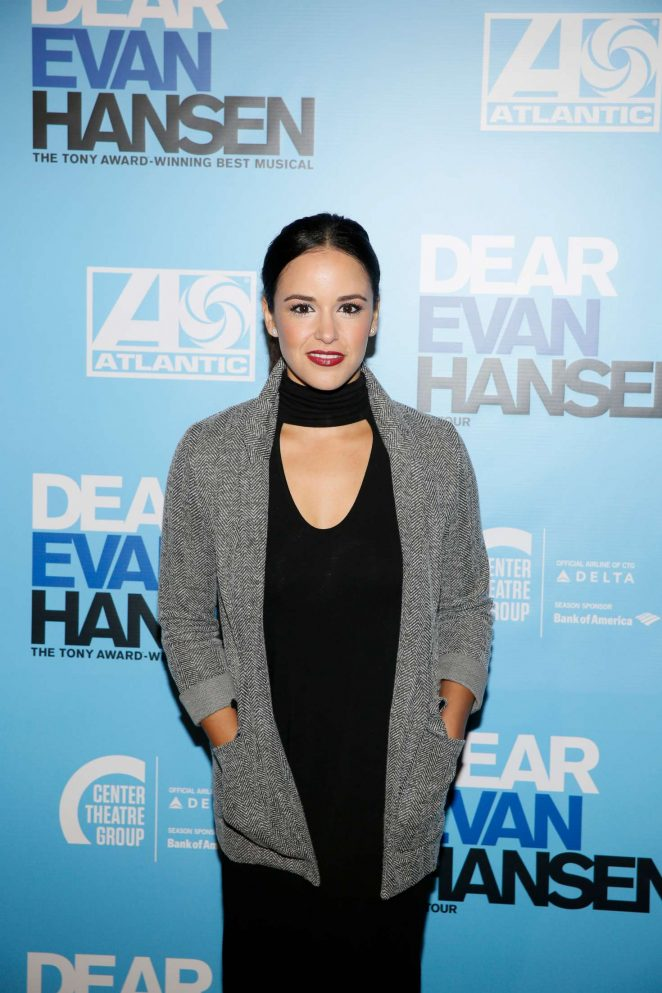 Melissa Fumero - 'Dear Evan Hansen' Center Theatre Group Ahmanson Theatre Opening in LA