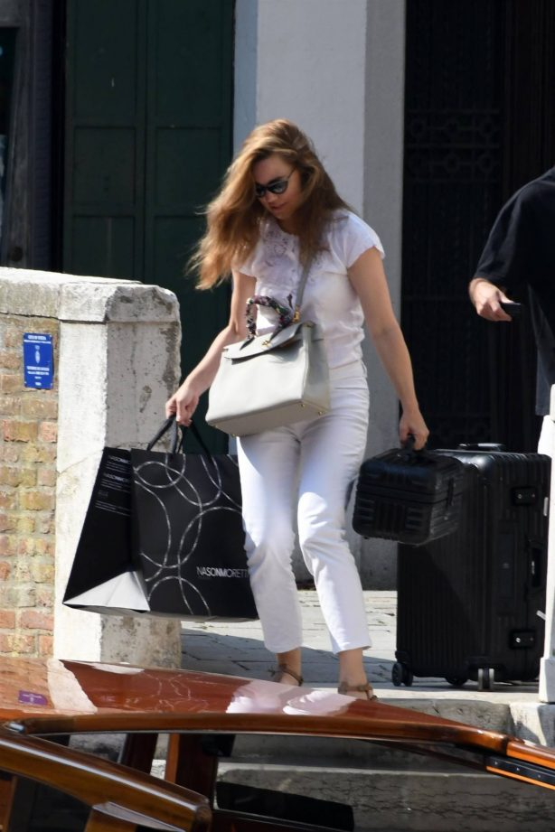 Melissa George - Out in Venice - Italy