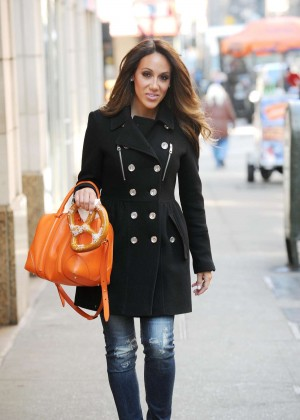 Melissa Gorga in Jeans Out in NYC