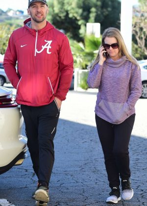Melissa Joan Hart and Mark Wilkerson - Out and about in Studio City