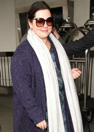 Melissa McCarthy Arrives in Los Angeles