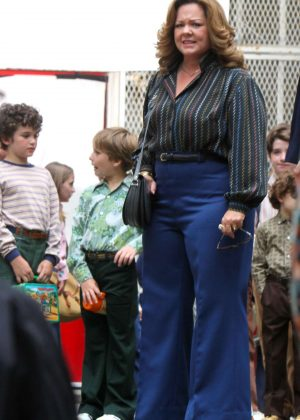 Melissa McCarthy on the set of 'The Kitchen' in Harlem