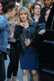 Melissa Rauch - Arrives at Stephen Colbert Show in New York City